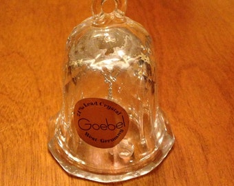 Tiny Leaded Crystal Glass Goebel Bell