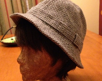 Great British Grey Wool Tweed Winter Hat