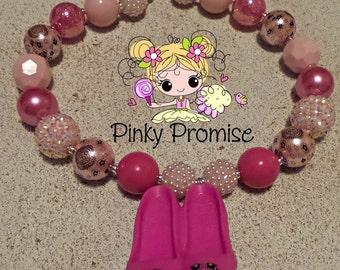 "Shopkins ""Prommy"" Toddler/Child Handmade Chunky Rhinestone Necklace"