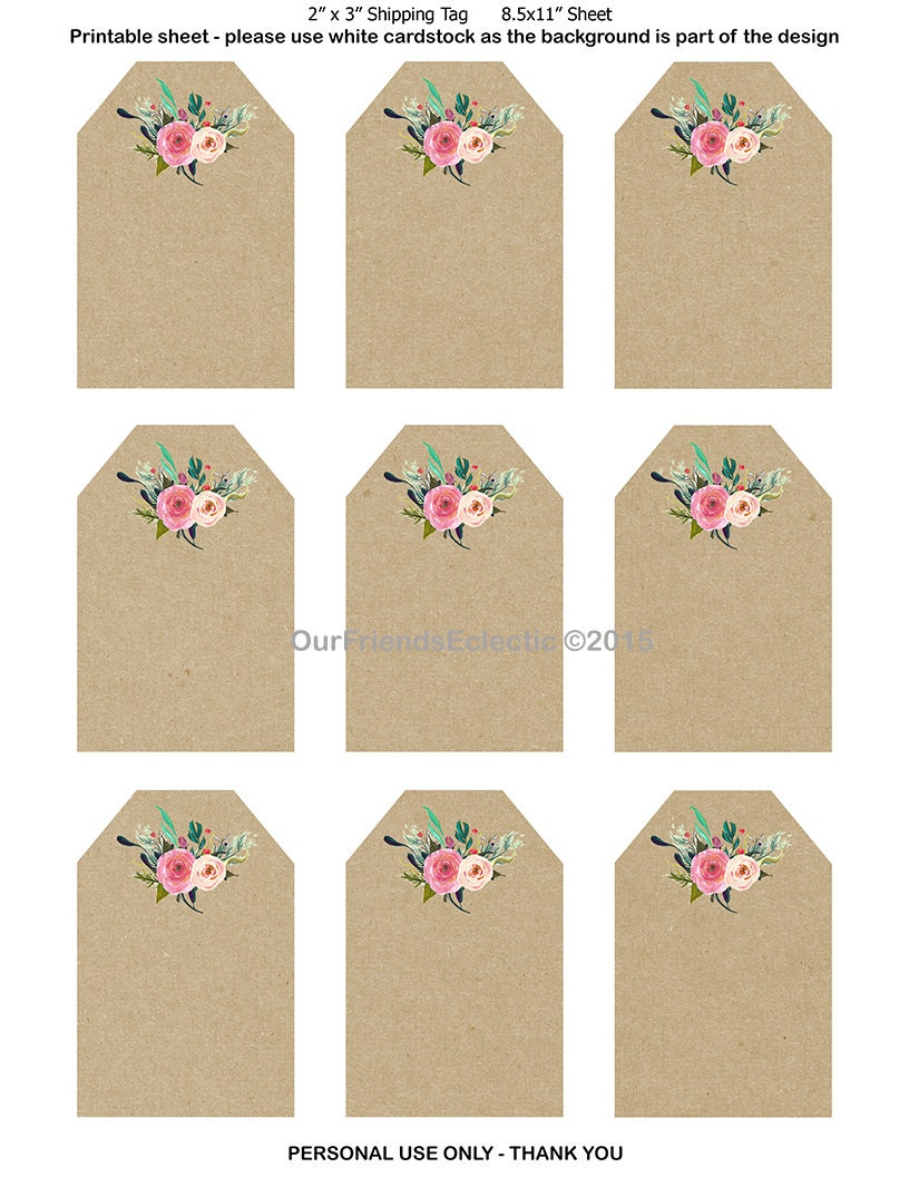 Wedding Gift Tags Printable : printable wedding favor tags printable tags by OurFriendsEclectic