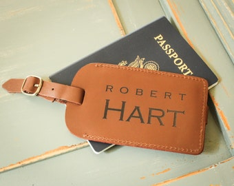 Personalized Luggage Tag, Leather Luggage Tag, Custom Luggage Tag, Custom Address Tag, Travel Accessory, Honeymoon Gift, Destination Wedding