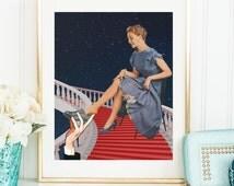 Feminist illustration poster - Modern Cinderella art print