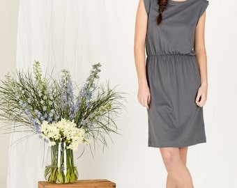 SALE!!  Summer dark grey jersey dress