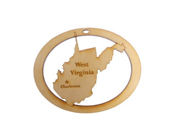 West Virginia Ornament - West Virginia State Ornament - West Virginia Gift - West Virginia Map - West Viriginia State - Personalized Free
