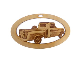 Chevy Stepside Truck Ornament - Chevy Truck Gift - Vintage Chevy Truck Ornaments - Classic Truck Gift - Chevy Truck Art - Personalized Free