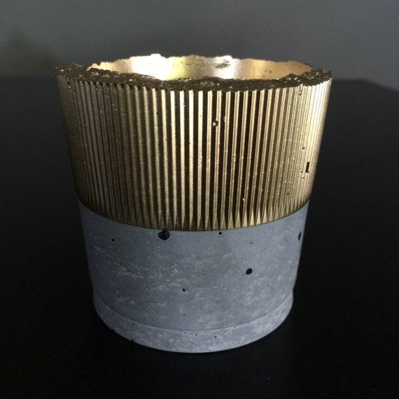 PeaboPot Cup Ribbed - Hypertufa
