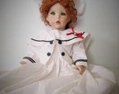 A Large Beautiful Reproduction Antique BisquePorcelain By Dianna Effner Doll.  Hand Made.