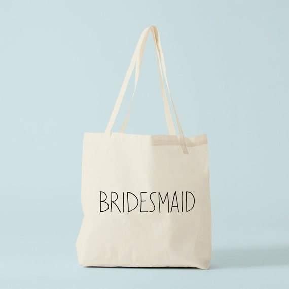 Tote Bag BRIDESMAID, wedding tote bag, bride's maid tote bag, bride's maid gift.