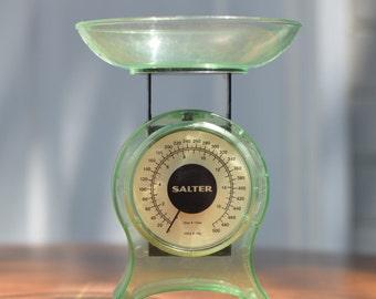 Retro Green Salter Scales Green