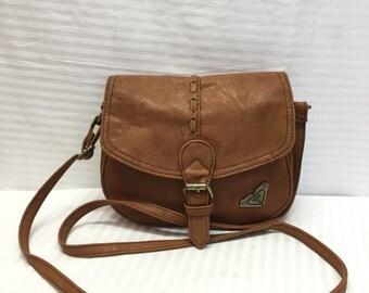 Free Ship Roxy, Faux Leather, Purse Bag, Saddle Bag, Vegan Leather