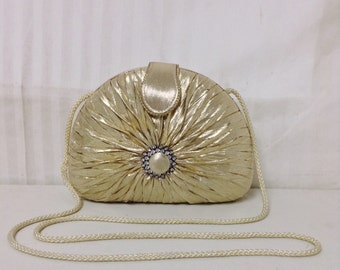 Sasha,box purse, Gold Lemme, Formal, Purse,bag, Rhinestones