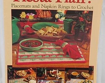 Fiesta Flair - Placemat Crochet Pattern - Napkin Ring Crochet Pattern