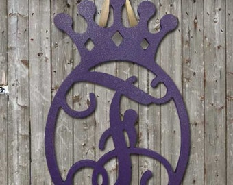 Wooden Crown Initial
