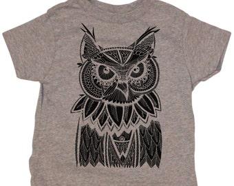 Owl  Toddler Tee : 100% cotton jersey