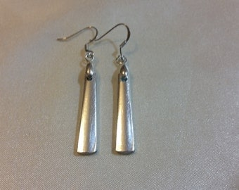 Silverware Jewelry gift box MEDIUM Spoon Earrings Spoon Jewelry Actual Photo Mid Century Recycled Silver Plated OOAK unique hostess gift
