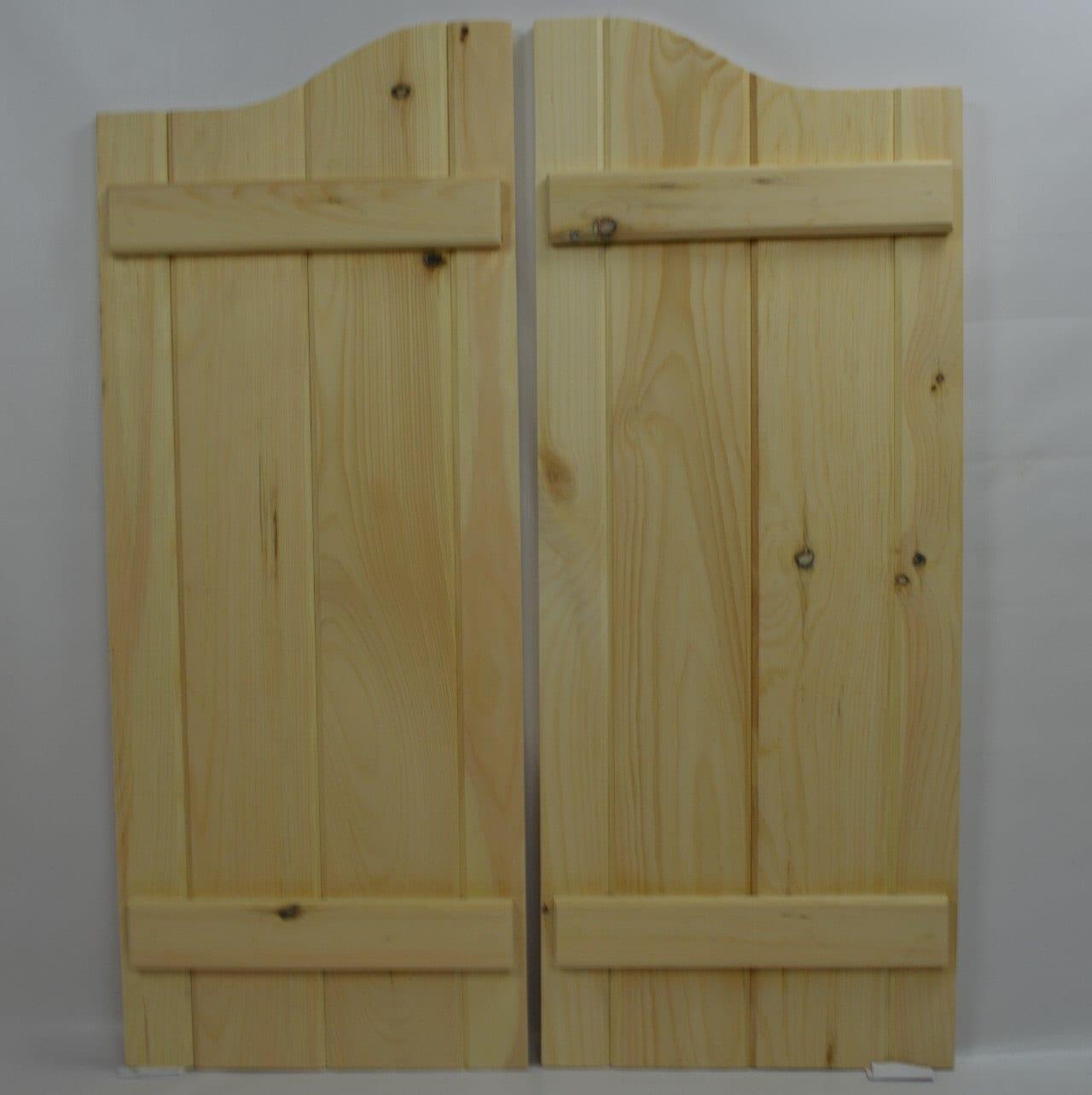 Handcrafted custom swinging saloon doors -  264 99