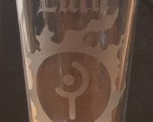 FFXIV Job or Class Icons w/ Name - Etched Pub Glasses.  Choose your Icon, and personalize your glass! featured image