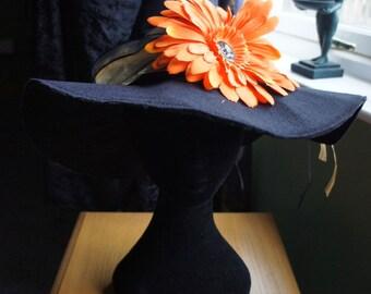 Felt Witch's Hat, Orange flower