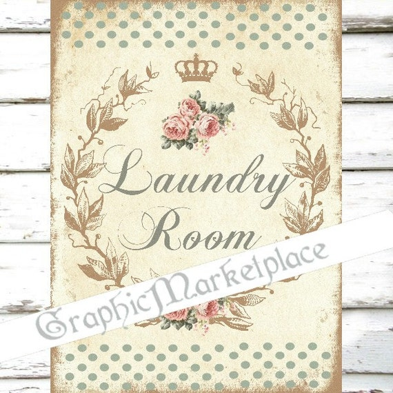 Laundry Room Fabric Part - 49: Laundry Room Wash Sign Washing Machine Shabby Chic Polka Dots Download  Transfer Fabric Digital Sheet Printable No. 780 From GraphicMarketplace On  Etsy ...
