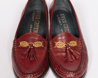 Gorgeous Italian brown leather loafers. Size EUR 39, UK 6.