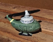 Green Helicopter Salt and Peper Shaker Five and Dime Vintage Salt and Pepper Shaker