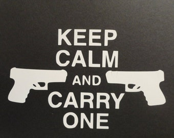 Keep Calm Gun Decals