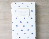 Humbled Hearts Daybook - Gold foil - Prayer Journal - blue dot