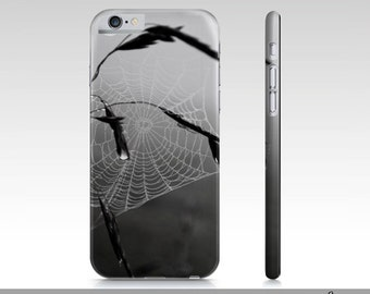 Spiderweb iPhone 6 Case, Black And White Photo iPhone 6 Case, Slim Protective Phone Case For iPhone 6 and iPhone 6s, Custom Printed