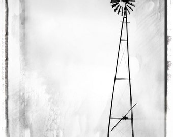 Windmill Photo Print Photographic Wall Print Black And White Fine Art Photography Vintage Windmill Fine Art Photo Black White Photography