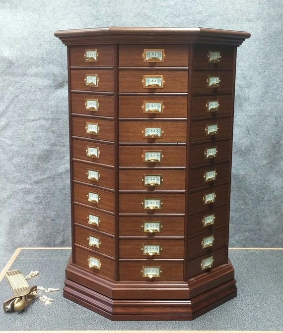 Reproduction walnut revolving hardware cabinet for Reproduction kitchen cabinets