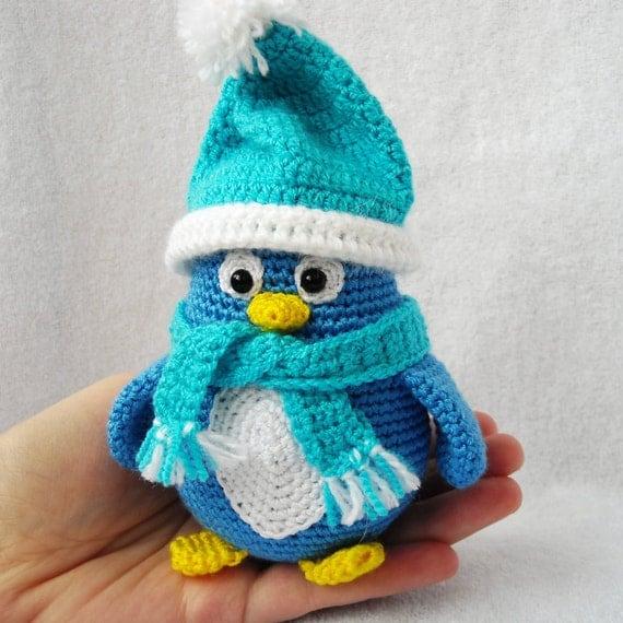 Amigurumi Penguin Crochet : Amigurumi penguin stuffed crochet decoration