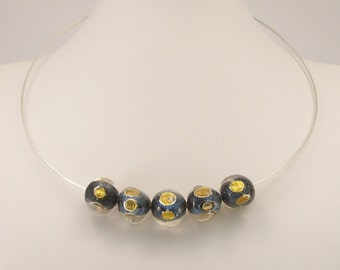 Murano Glass Necklace, Choker, venetian jewelry, Made in Italy
