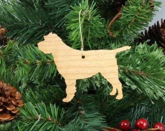 Wirehaired Pointing Griffon Ornament in Wood or Mirror Acrylic Customizable with Name