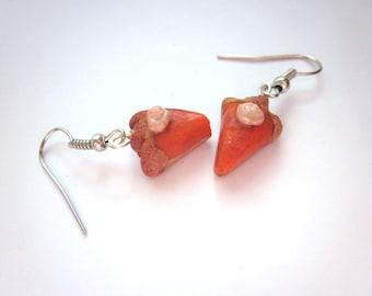 Polymer Clay Pumpkin Pie Earrings, Pumpkin Pie Autumn Jewellery