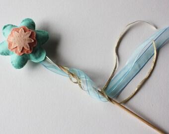 Magic Fairy Flower Wand - Mint and Peach