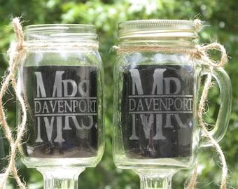 10 mason jars 5 redneck wine glasses 5 mason jar mug set for Why are mason jars called mason jars