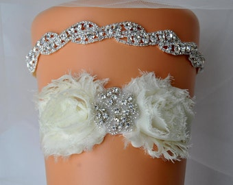 Wedding Garter Set, Bridal Garter Set White Ivory Lace Garter, Keepsake Garter Toss Garter, Ivory Wedding Garter, Ivory Wedding Garter Belt