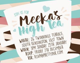 High tea invitation | Etsy