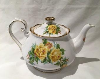 Royal Albert Tea Rose Yellow Teapot 4 Cup