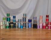 Vintage Thread on Wooden Spools - lot of 50!