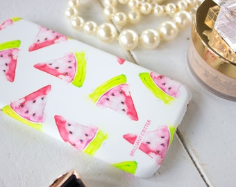 Watermelon iPhone Case - Fruit Phone Cover - Summer iPhone 6 Case - Watercolor iPhone Case - Cute iPhone Cases - Colorful iPhone Case