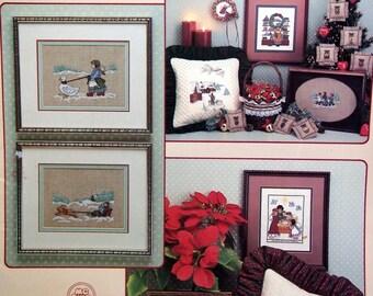 Olde Worlde Christmas By Leisure Arts Vintage Cross Stitch Pattern Leaflet 1986