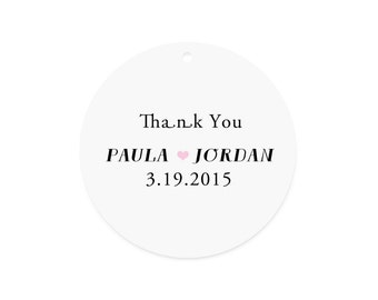 Thank you favor tag - Wedding favor tag - Wedding gift tag - Favor tags - Bridal shower tag