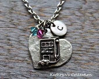 Gambling Necklace, Slot Machine Necklace, Slot Machine, Gambling Gift