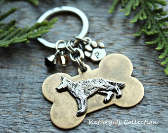 German Shepherd Key Chain, German Shepherd Gift, Gift for Dog Lover, Dog Breed Key Chain