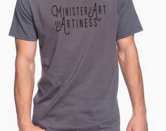 Doctor Who shirt. Minister of Art and Artiness.