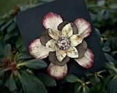 Handmade Rustic Paper Clockwork Hair Flower