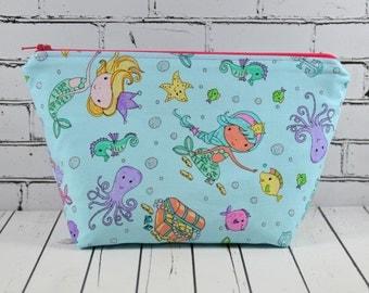 Mermaid Makeup Bag, Toiletry Bag, Mermaid Bag, Cosmetic Bag, School Supplies