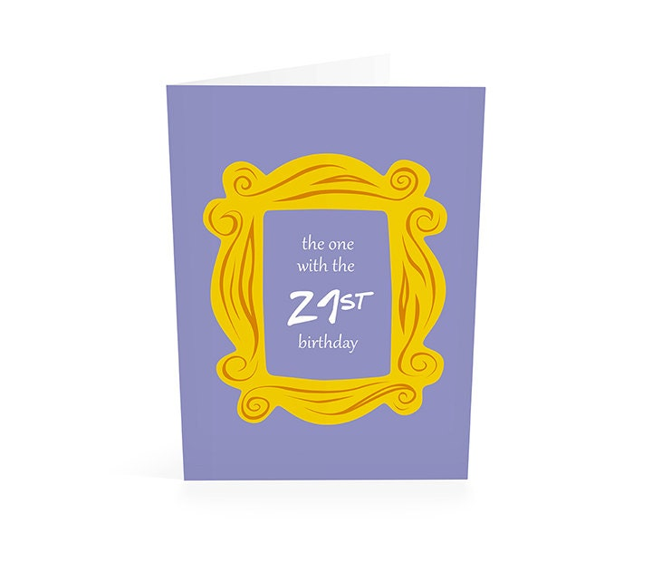Friends Tv Show Birthday Card