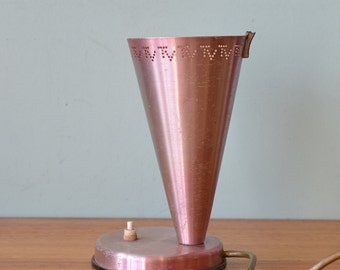 Vintage Retro anodised desk lamp TV pink TV lamp made by Rite-Lite, 1957